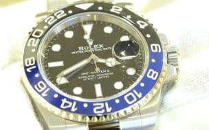 ロレックス買取GMTマスター2青黒116710blnr
