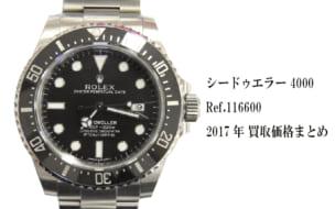 ロレックス買取シードゥエラー4000 Ref.116600