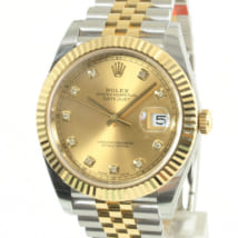 ロレックス,買取,デイトジャスト41,126333g,イエローロレゾール,ダイヤモンド