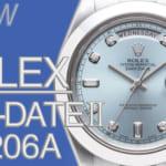ロレックス デイデイトⅡ プラチナアイスブルー ダイヤモンド Ref.218206Aとは|特徴・スペック・価格など