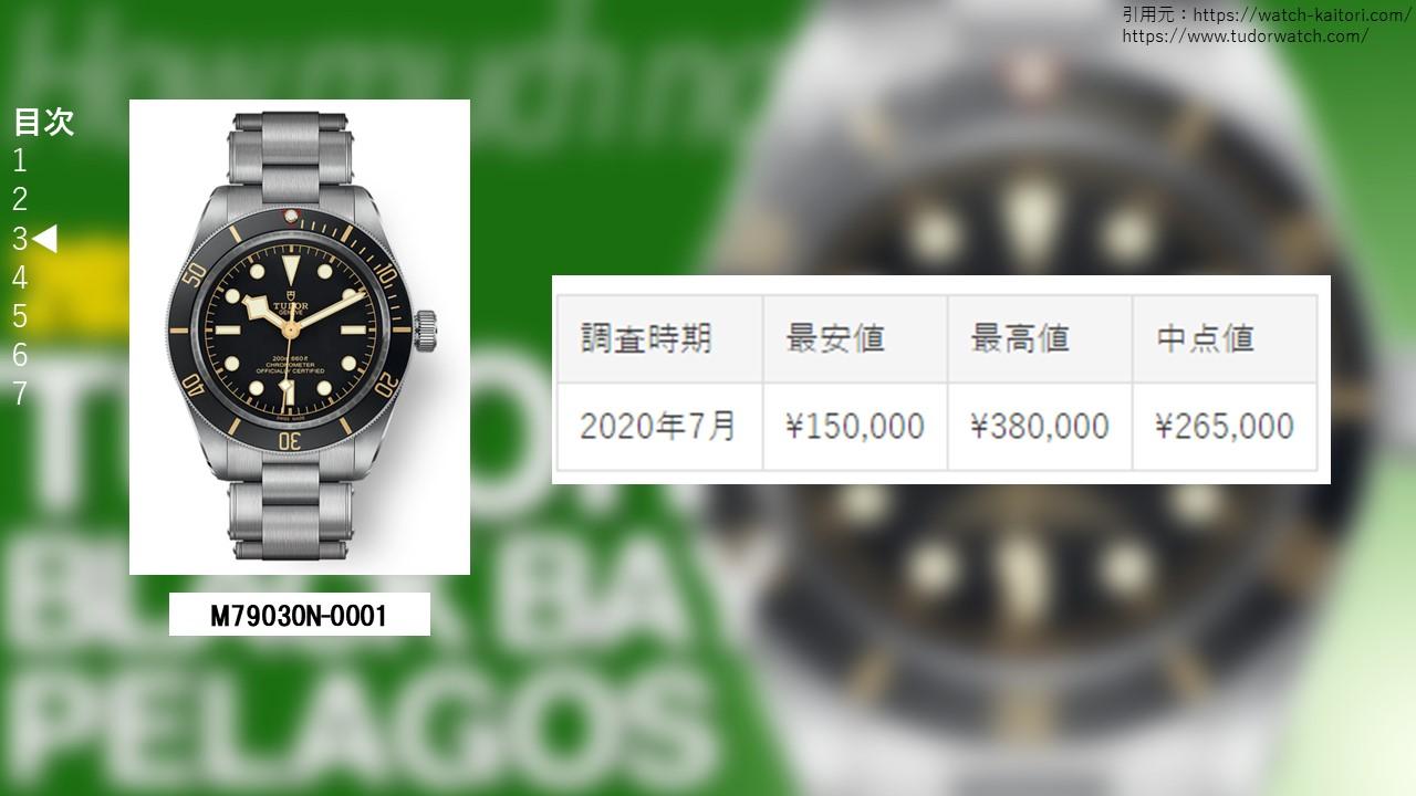 ブラックベイ フィフティエイト M79030N-0001買取価格